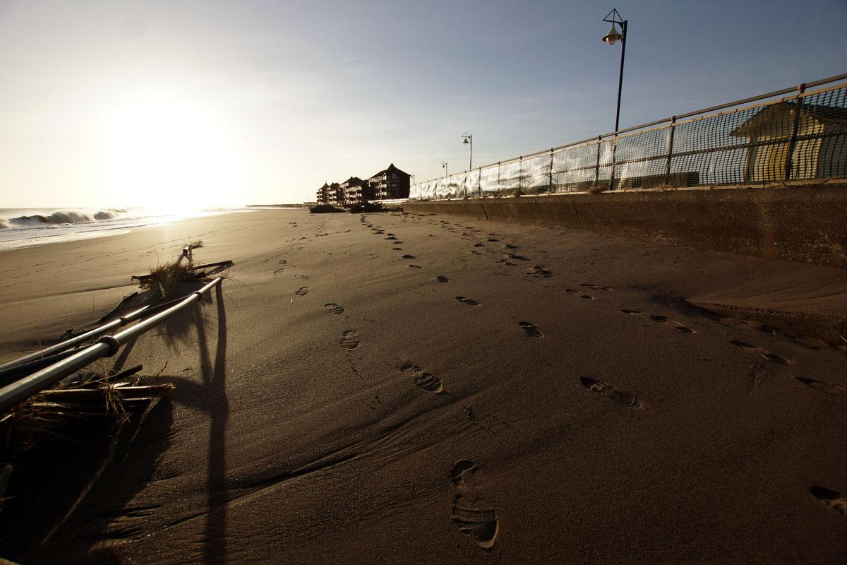 Footprints in the Mablethorpe sand